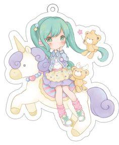 【再販】unicorn miku キーホルダー - PHOOEY SHOP