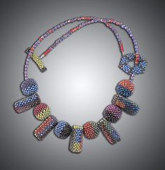 Julie Powell, Sunset Palette, Elements Of Color, Herringbone Stitch, Bead Weaving, Beaded Necklace, Beaded Bead, Beautiful Necklaces, Jewelry Art