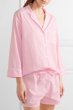 Baby-pink and white cotton Button fastenings through front 100% cotton Machine wash Imported