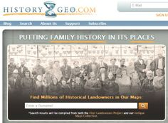 HistoryGeo.com - Family Tree Magazine 101 Best Websites 2013