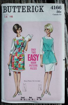 Butterick 4166 1960s 60s Cobbler's Apron by EleanorMeriwether