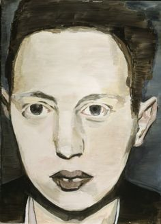 Luc Tuymans--great example of contrast in portrait painting...