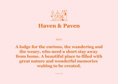 Haven & Paven on Behance / Georgia looking so good here