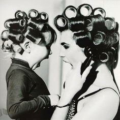In Celebration of Mom.  Good hair takes some work.