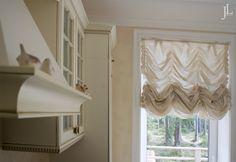 Французские шторы в кухне
