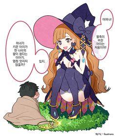 훌륭한 왕을 기른 마녀.manhwa > 만화방   뀨잉넷 - 온세상 모든 웹코믹이 모이는 곳 Witch Characters, Anime Witch, Image Mix, Intense Love, Drawing Expressions, Witch Aesthetic, Short Comics, Anime Angel, Manga Love