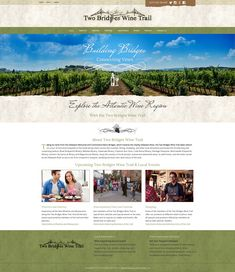 Two Bridges Wine Trail Website Design Project Web Design Projects, Local Events, Bridges, Trail, Print Design, Wine, Website, Photography, Print Layout