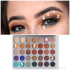Easter look. #colorful #eyeshadow #makeup #diy #tutorial #jaclynhillpalette #jaclynhill #morphe #morphebrushes