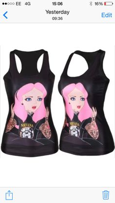 1aeef431a12ef Womens Club Wear Gothic Punk Rock Vest Tank Top T-shirt Girl In Nirvana  Shirt