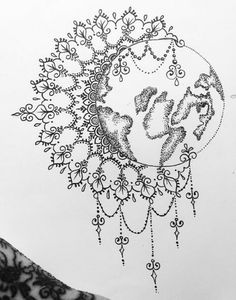 (put the necklace part on the bottom of the earth)