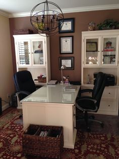 My Home Office completed 2014- furniture & light from Ballard
