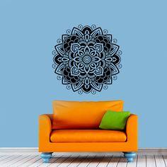 Wall Decals Vinyl Sticker Mandala Decal Ornament Indian Geometric Moroccan Pattern Yoga Namaste Om Symbol Home Decor Murals Bedroom Studio Dorm: Amazon.co.uk: Kitchen & Home