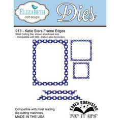 Elizabeth Craft Designs Die, Katie Stars Frame Edges (Retiring) - Ellen Hutson LLC