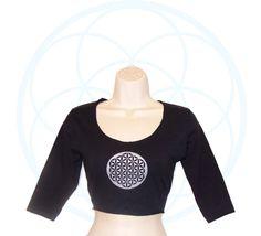 Organic tops  Organic Cotton and Hemp Crop Top  Half sleeve
