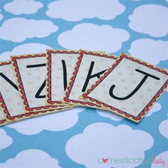 Super cute uppercase (only) alphabet flashcards. I am looking for lowercase ones now...