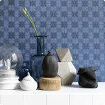 Tapet Earth från Ecotapeter blå mönster vas sideboard Design, Home Decor, Decoration Home, Room Decor, Interior Decorating