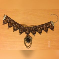 Lace Choker Necklace Handmade by me, lace choker necklace inspired by the gothic era. Since the item is handmade, the price is firm. Jewelry Necklaces