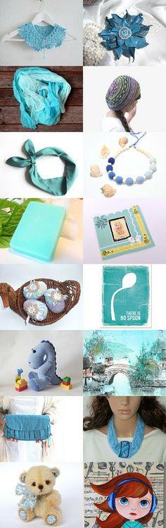 ☼ Turquoise mood ☼ by Nina Opanasenko on Etsy--Pinned with TreasuryPin.com
