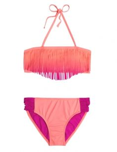 Shop Ombre Fringe Bikini Swimsuit and other trendy girls swimwear clothes at Justice. Find the cutest girls clothes to make a statement today.