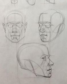 "Brian Knox on Instagram: ""⏪swipe⏪head drawing fundamentals week 2 reilly based gesture demo. . . . #wattsatelier #brianknox #artteacher #artinstruction #artschool…"" Face Anatomy, Anatomy Drawing, Anatomy Art, Body Reference Drawing, Anatomy Reference, Art Reference, Life Drawing, Drawing Sketches, Art Drawings"
