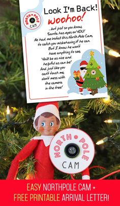 Elf on the Shelf Arrival Idea: 5 min Northpole Cam with FREE Printable Letter! - I Think We Could Be Friends