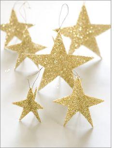 Christmas tree decorations - shining stars