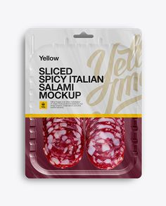 Vacuum Tray W/ Spicy Italian Salami Mock-Up. Preview