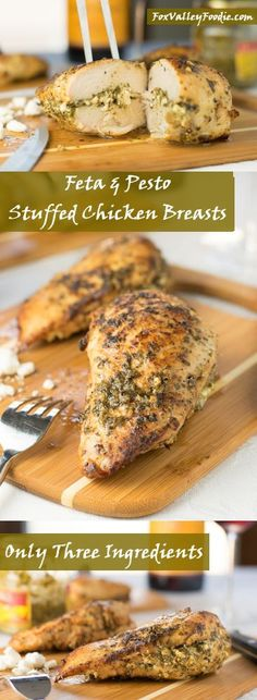 Feta and Pesto Stuffed Chicken Breasts