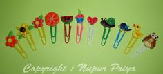 Quilled Bookmarks - by Nupur Priya of Nupur Creatives