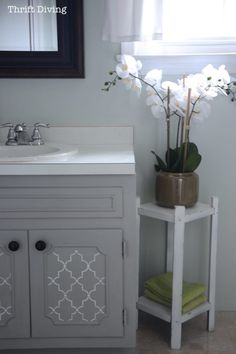 How to Paint a Bathroom Vanity - Thrift Diving Blog6810