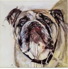 """White Dog Whistler Studio Gallery's """"I Adore You"""" by Andrea Moore."""