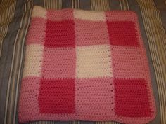 Manner's Crochet and Craft: Gingham Baby Blanket