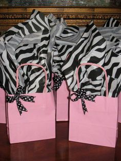 Cute favor bags for a Girls Night Party!