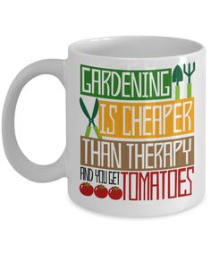 This #coffeemug makes a fun #birthdaypresent or #Christmasgift for #gardeners. This 11 oz. mug is made from the highest grade ceramic, and the designs are printed and sublimated in the United States. It is 100% dishwasher and microwave safe; the print will never fade. #giftideas #mugs #ceramicmugs #gardenlovers #funnycoffeemug #birthdaygift #gardenersmug #funnygiftideas #funnymugs #giftmug #holidaygiftideas #Christmasgiftguide