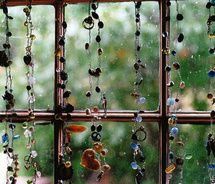 Beads for kitchen window