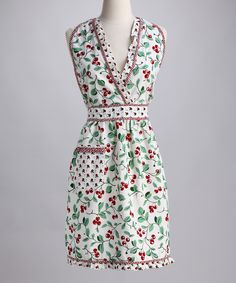 Take a look at this Design Imports Cherry Apron - Women on zulily today! The details make it.