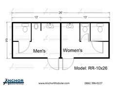 Modular Building Floor Plans | Modular Restroom And Bathroom Floor Plans
