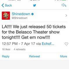 Via #Shinedown - Los Angeles!   Barry Kerch Brent Smith Eric Bass Shinedown Shinedown Nation Shinedowns Nation Zach Myers