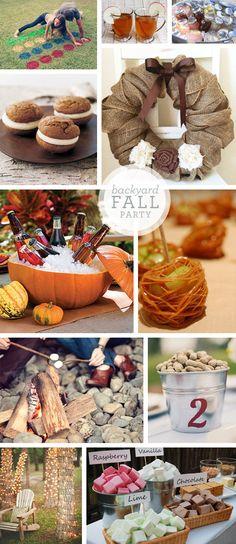 Backyard Fall Party Idea Board