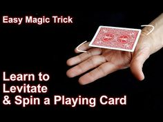 Easy Magic Trick: How to levitate and Spin a Playing Card - YouTube
