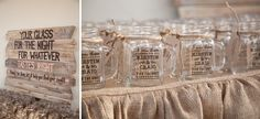 Party favors & seat assignments! -- Robinson Ranch Golf Club Wedding // Becca Rillo