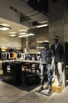 G-star store, Jakarta, pinned by Ton van der Veer