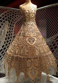 Wooden Dress by Artist Michael Takewell