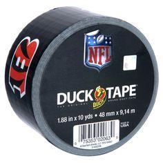 NFL Licensed Duck Tape® - Cincinnati Bengals http://duckbrand.com/products/duck-tape/licensed/nfl-licensed-duck-tape/cincinnati-bengals-188-in-x-10-yd?utm_campaign=nfl-duck-tape-general&utm_medium=social&utm_source=pinterest.com&utm_content=nfl-licensed-duck-tape
