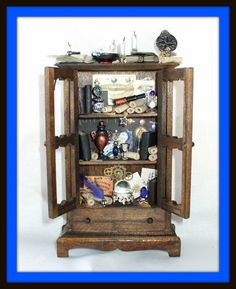 Gothic Witch wizard Hutch dollhouse miniature halloween ooak Custom orders Welcome