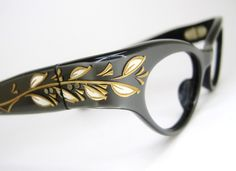 Womens Vintage 50s Cat Eye Eyeglasses Frame