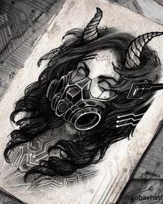 Dark Art Drawings, Tattoo Design Drawings, Art Drawings Sketches, Tattoo Sketches, Tattoo Designs, Dark Art Tattoo, Tattoo Flash Art, Body Art Tattoos, Sleeve Tattoos