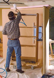 Make a Simple Spray Booth - Fine Woodworking Article