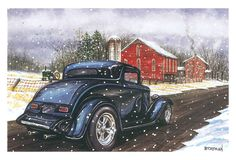 Hot Rods Christmas Cards - X-750 - One (1) Pack of 10 Cards & Envelopes #Christmas