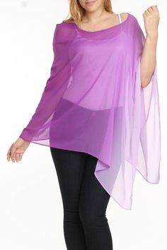 She's Cool Poncho In Lilac - Beyond the Rack